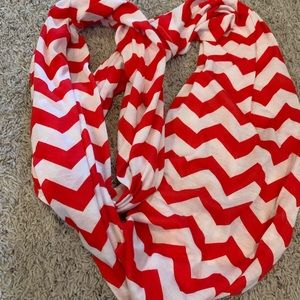 Accessories - Red and white scarf